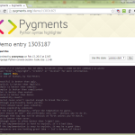 Pygments Demo