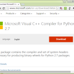 Microsoft Visual C++ Compiler for Python 2.7はひとのためならず