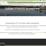 Download of YouTube video disabled!