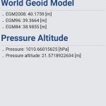 Android センサーの TYPE_PRESSURE で少し遊ぶ