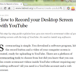 スクリーンキャストとして「Hangouts on Air → YouTube 動画として公開」を活用、の基礎