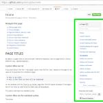 GitHub Wiki のサイドバー、付けたい人もいれば外したい人もいる