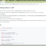 Python for .NET の薄っぺらい紹介
