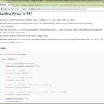 Python for .NET の「Python for .NET」のほう、「.NET for Python」でなくて (未遂)