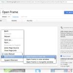 Chrome:「フレームを別 Window (別タブ) で開く」ことは出来ない、が
