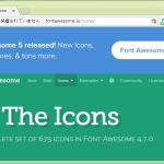 Font Awesome な 5.0.6 が出てるとして